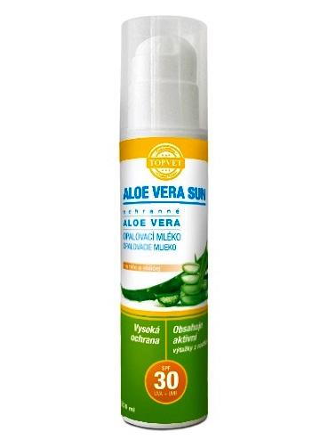 Topvet Opaľovacie mlieko SPF30 Aloe vera 200ml