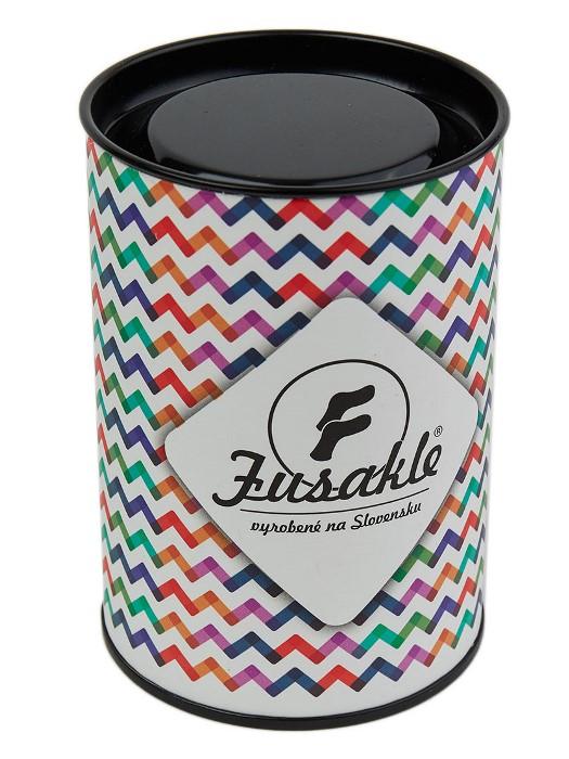 Fusakle darčeková tuba farebná cik cak