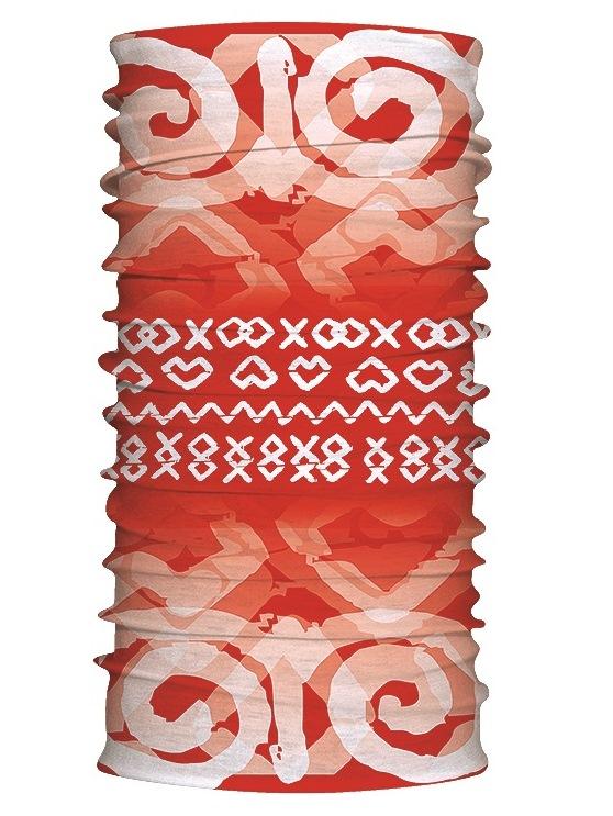 Multifunkčný šál čičmanské znaky červený 7170