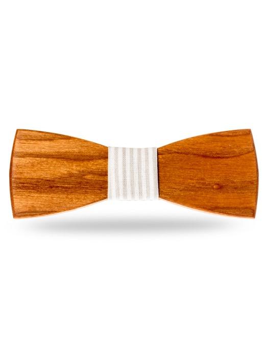 Woodenka drevený motýlik klasik + vreckovka grátis