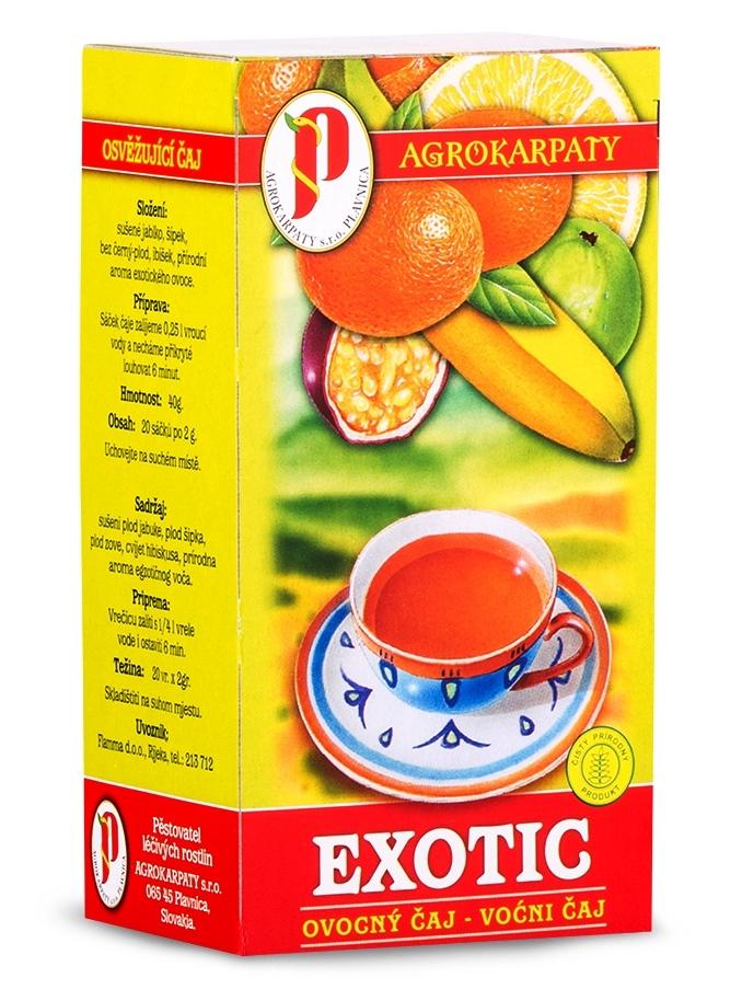 Agrokarpaty ovocný čaj exotic 20x2g