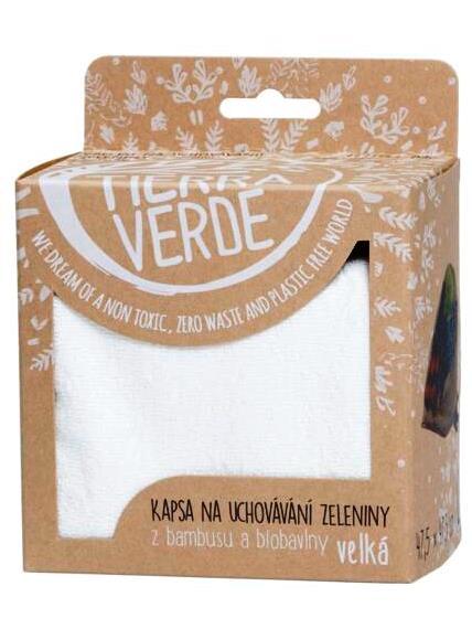 Tierra Verde vrecko na uchovanie zeleniny L 47,5×47,5 cm