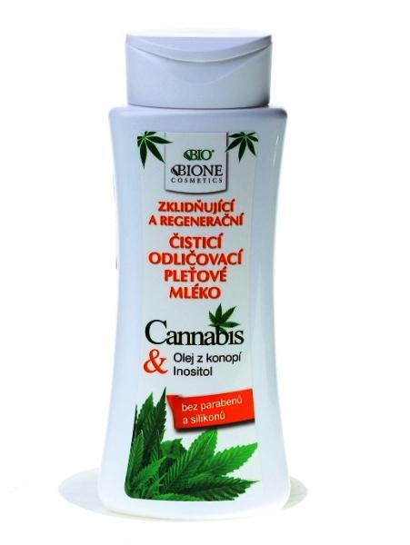 Bione Cosmetics - Odličovacie pleťové mlieko Cannabis 255 ml