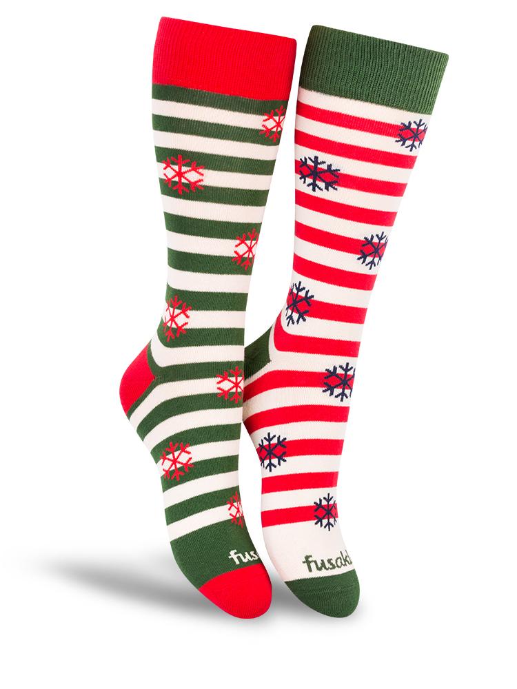 Fusakle ponožky Vianoce na snehu