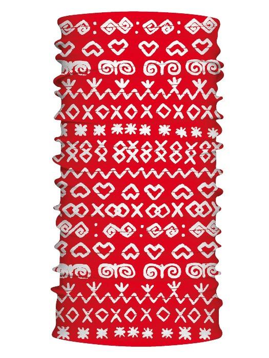 Multifunkčný šál čičmany retro červený 7156