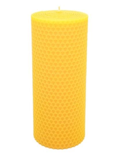 Sviečka včelí vosk žltá 160mm/70mm