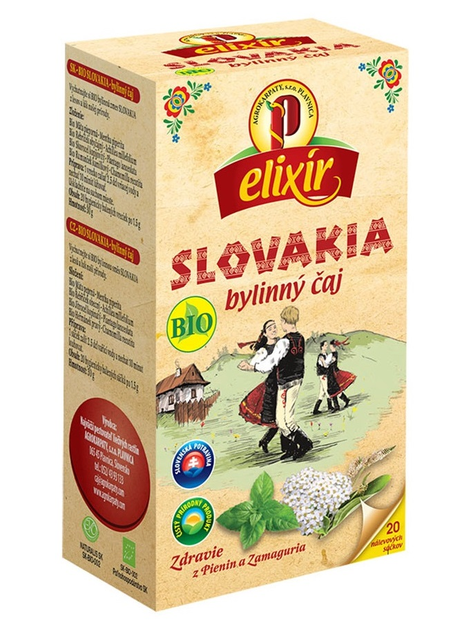 Agrokarpaty Elixír Slovakia bylinný čaj BIO 20x1,5g