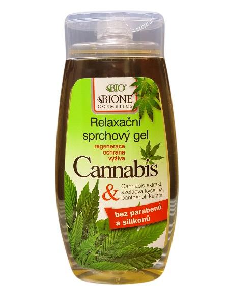 Bione Cosmetics - Relaxačný sprchový gél Cannabis 250ml