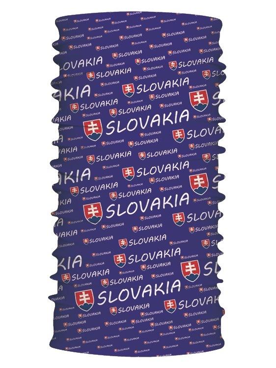 Multifunkčný šál Slovakia znak modrý 7167