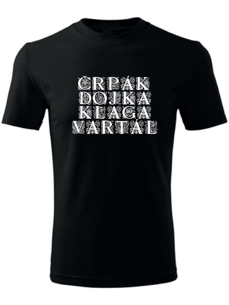 Tričko bačovský slovník Unisex Čierne