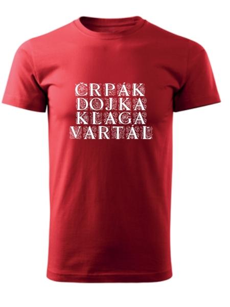 Tričko bačovský slovník Unisex Červené