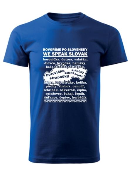 Tričko po slovensky Unisex Kráľovské modré