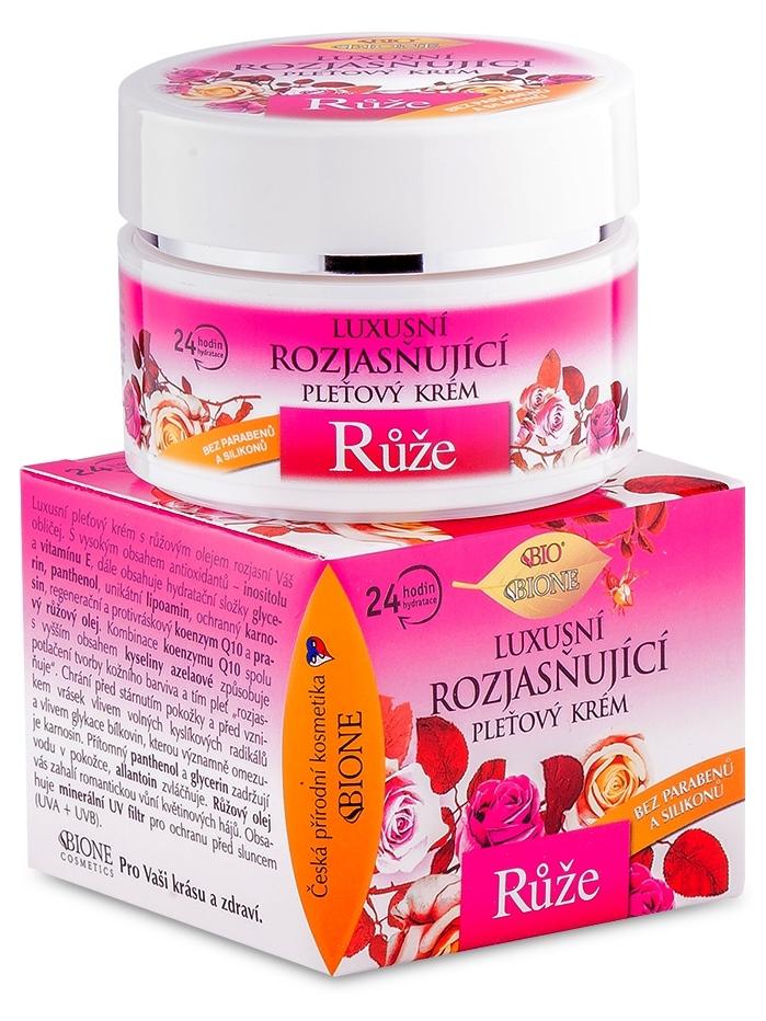 Bione Cosmetics - Rozjasňujúci pleťový krém Ruža 51ml