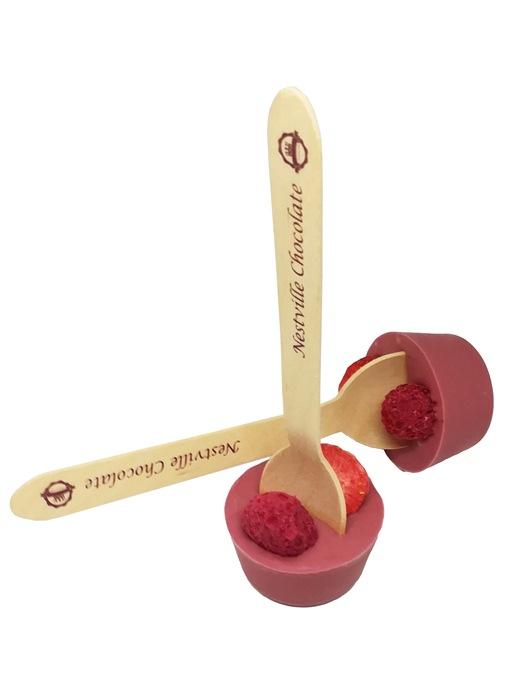 Valach Tekutá čokoláda ruby na lyžičke s lyofilizovanou jahodou a malinou 40g
