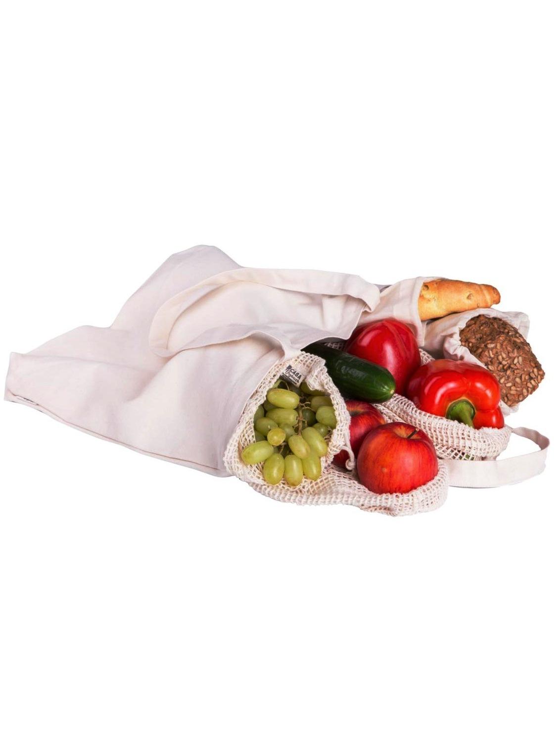 Tierra Verde nákupná sada vreciek+taška z biobavlny - set 6ks