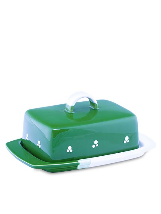 Maselnička - nádoba na maslo zelená