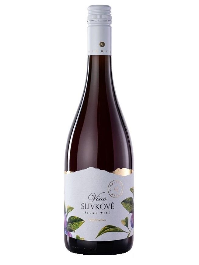 Slivkové víno Miluron 0,75l