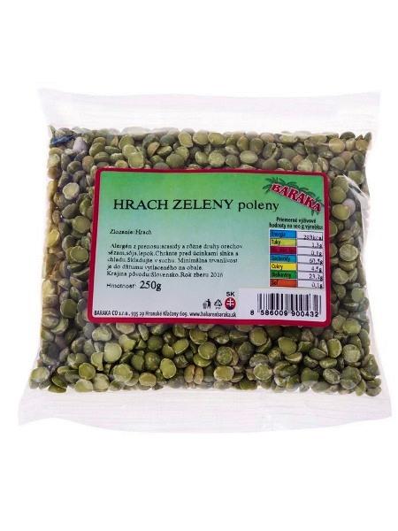 BARAKA Hrach zelený polený 250g