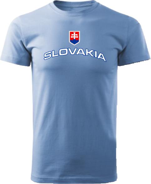 Tričko Slovakia Unisex Svetlomodrá