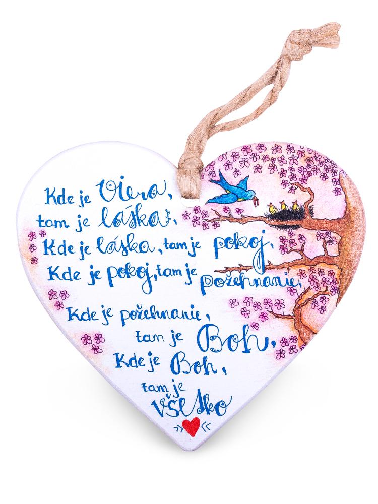 Drevené srdce kde je viera