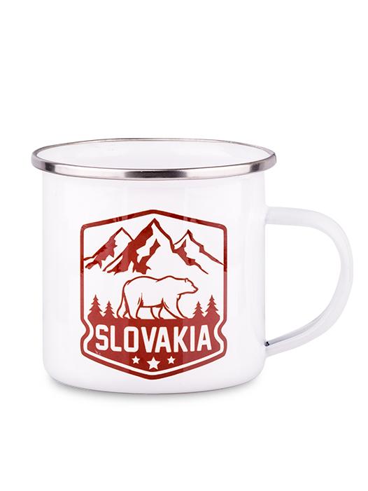 Plechový hrnček Slovakia medveď 300ml