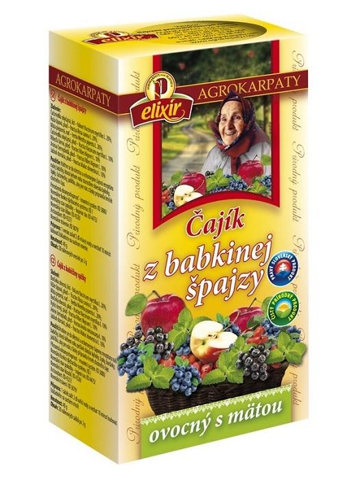 Agrokarpaty čajík z babkinej špajzy ovocný s mätou 20x3g