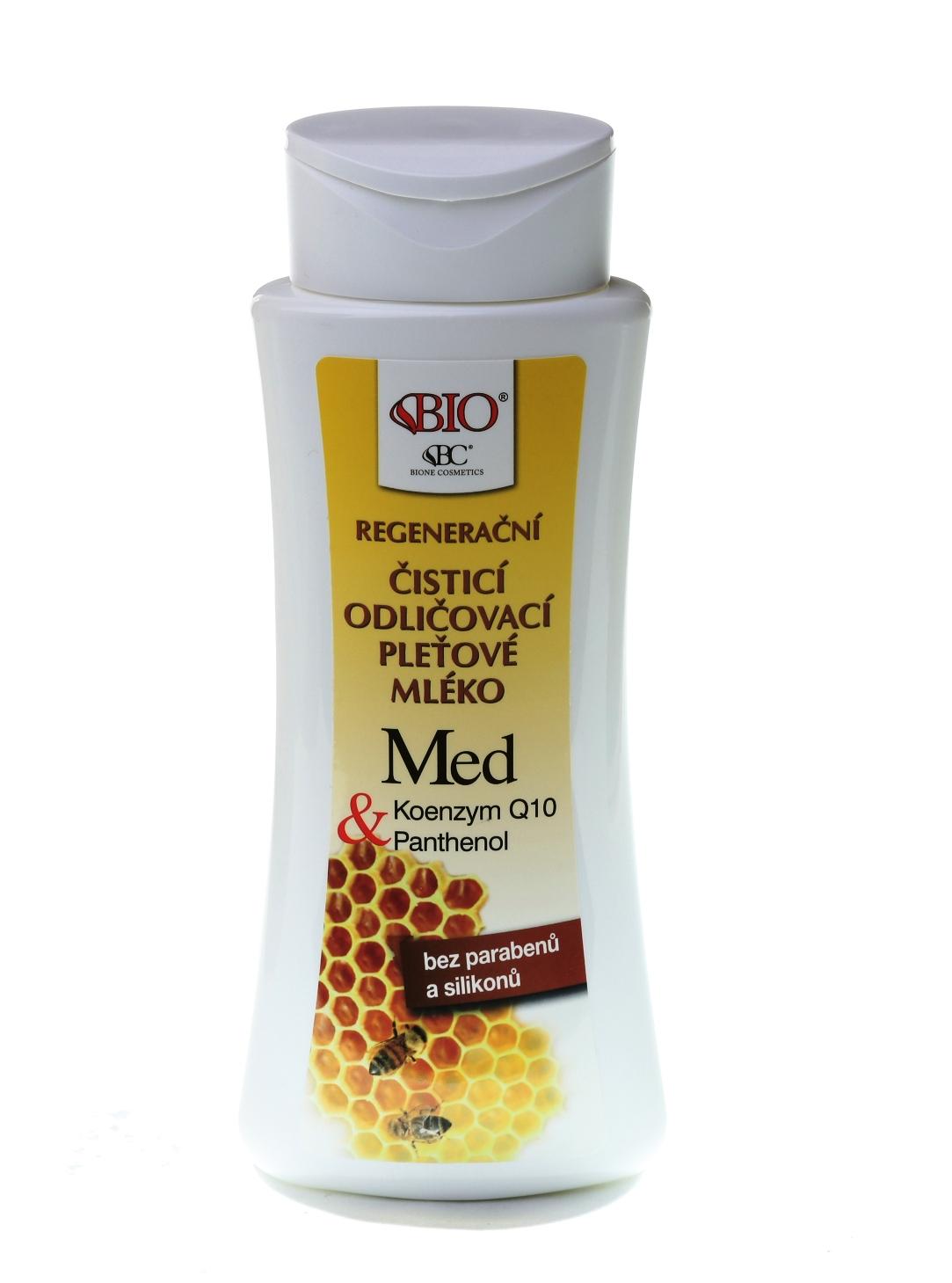 Bione Cosmetics - Odličovacie pleťové mlieko Med 255ml