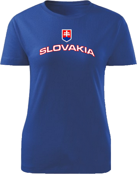 Tričko Slovakia Dámske klasik Kráľovské modré
