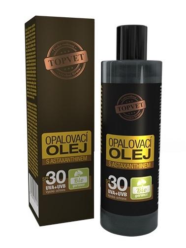 Topvet Opaľovací olej s Astaxanthinom SPF30 100ml