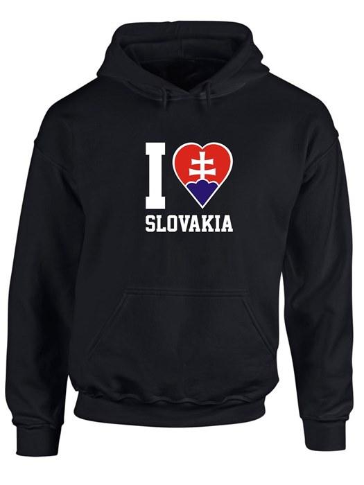 Mikina I love Slovakia Unisex Čierna