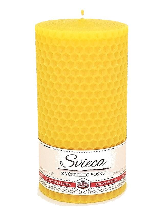 Sviečka včelí vosk žltá 110mm/60mm