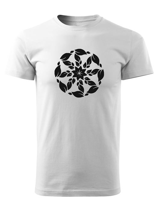 Tričko kolovrat 6 Unisex Biele