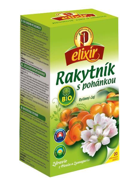 Agrokarpaty rakytník s pohánkou bio bylinný čaj 20x1,5g