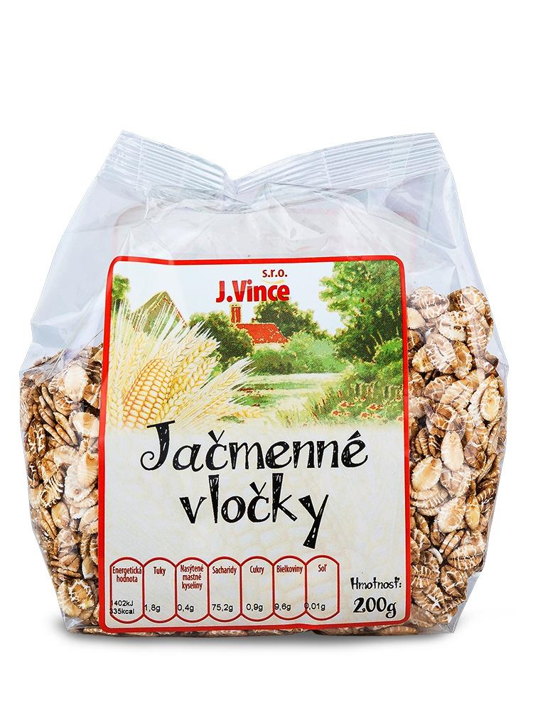J. VINCE Jačmenné vločky 200g