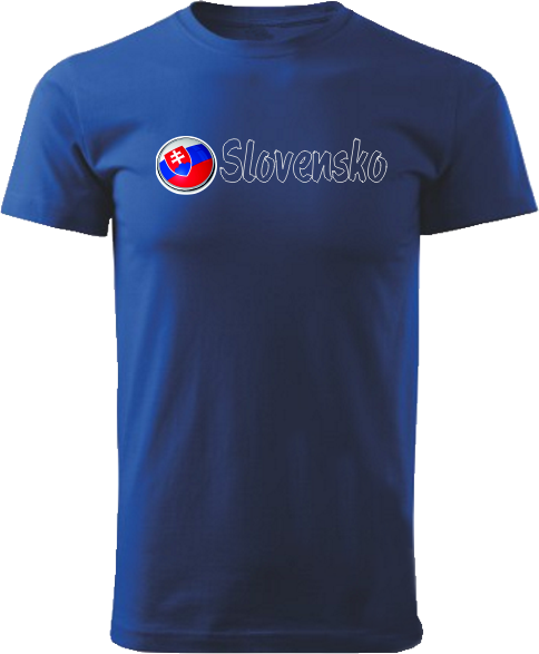 Tričko Slovensko Unisex Kráľovské modré