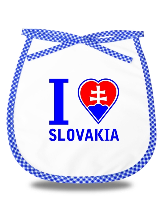 Detský podbradník I love Slovakia Modrý