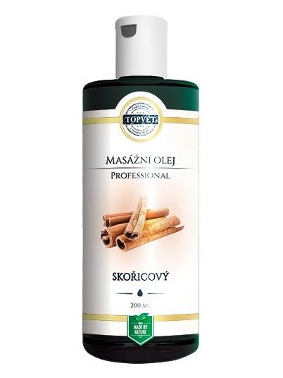 Topvet Škorica - masážny olej 200ml