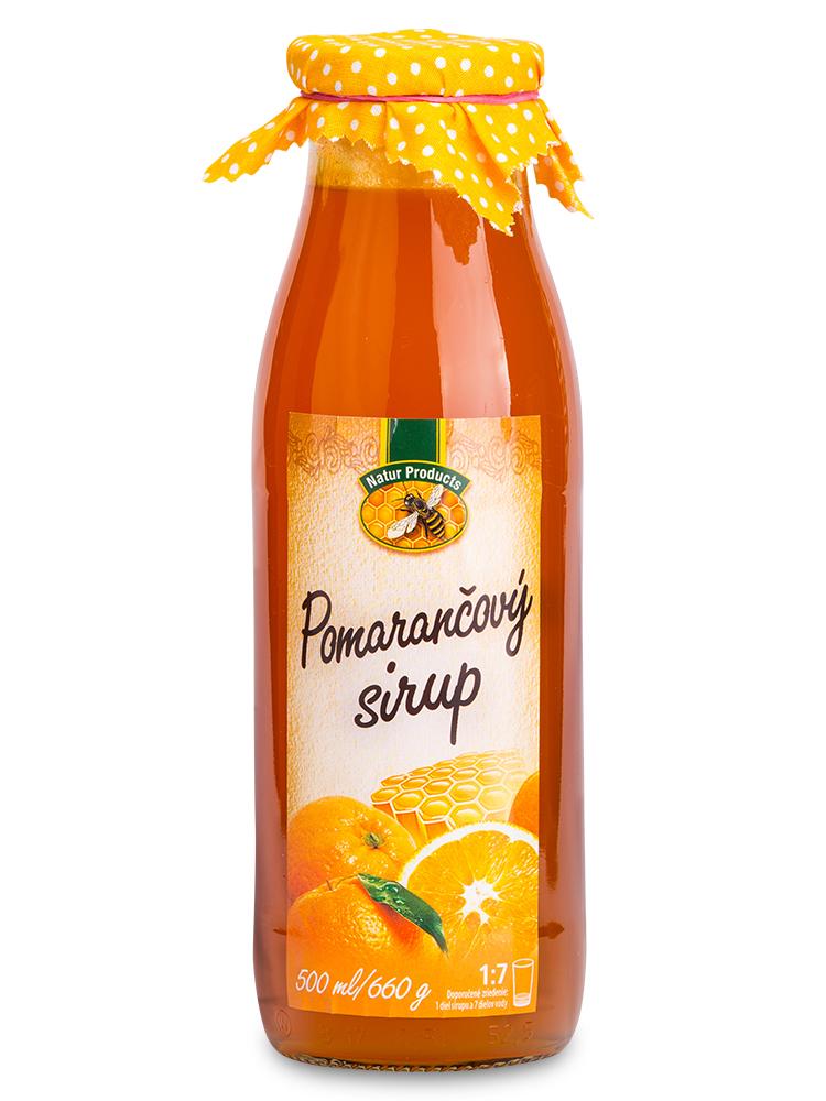 Pomarančový sirup s medom 500ml