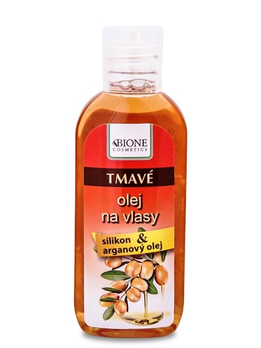 Bione Cosmetics - Olej na tmavé vlasy Arganový olej 80ml