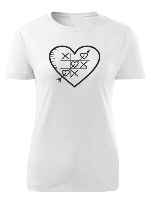 Tričko piškôrky Dámske klasik Biele