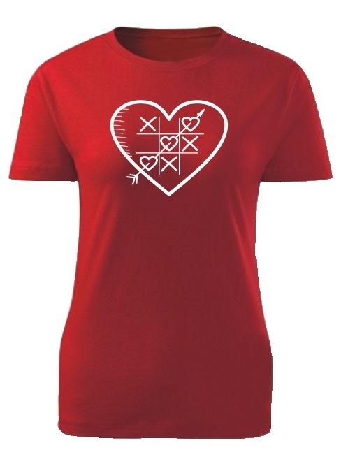 Tričko piškôrky Dámske klasik Červené