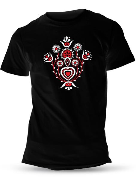Tričko bylinky Unisex Čierne