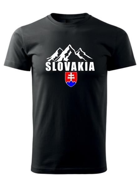 Tričko Slovakia tatranské štíty Unisex Čierne
