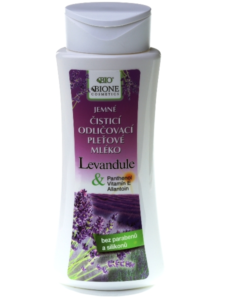 Bione Cosmetics - Odličovacie pleťové mlieko Levanduľa 255ml
