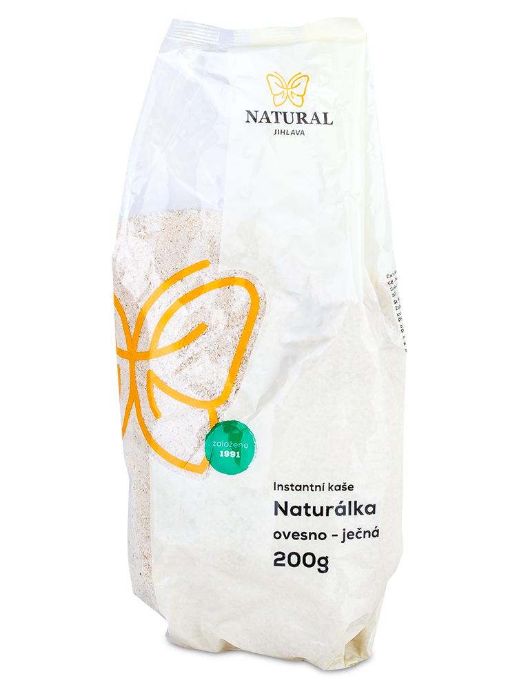 NATURAL JIHLAVA Naturálka ovseno-jačmenná instantná kaša 200g