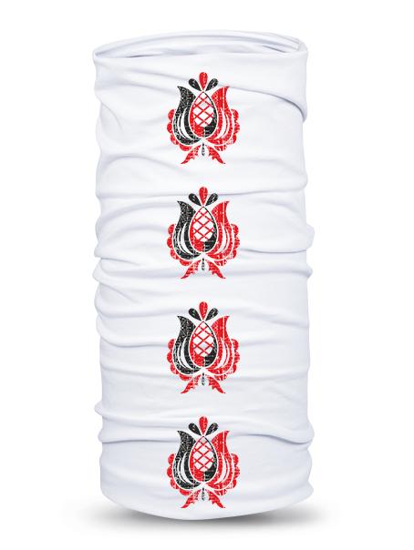 Folklórna multifunkčná šatka prvosienka retro Biela