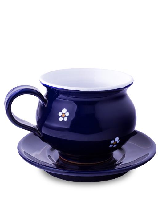 Šálka s tanierikom modrá