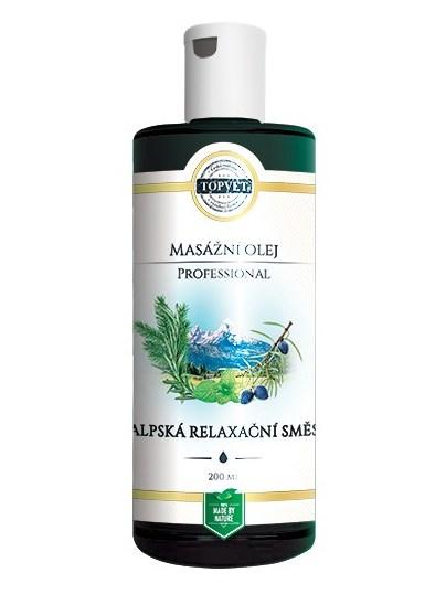 Topvet Alpská relaxačná zmes - masážny olej 200ml
