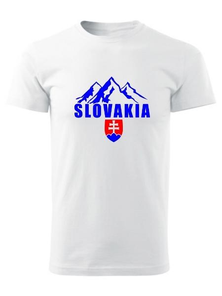 Tričko Slovakia tatranské štíty Unisex Biele
