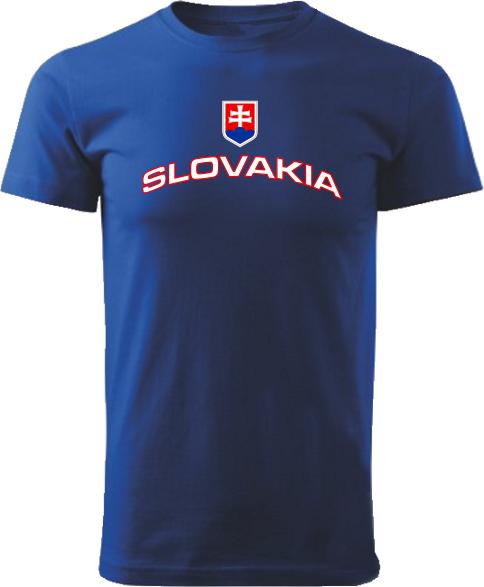 Tričko Slovakia Unisex Kráľovské modré